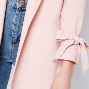 🎀 Miss Selfridge Bow Sleeve Grey Blazer 2 🎀